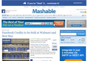 mashable interneta mājas lapa