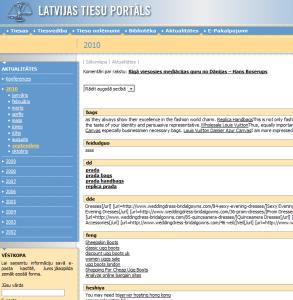 """Tieas.lv ekrānuzņēmums ar """"Prada"""" linkiem"""