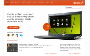 Apskatīt Linux distribūcijas ubuntu.com mājas lapu