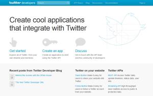 dev.twitter.com Twitter izstrādātāju kopiena